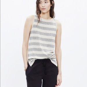 Madewell Tops - Madewell Linen striped Tank